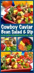 This classic from Texas is sure to be King of the Bbq this summer! Toss the ingredients together and you're done! It's like a bean salad on steroids - This recipe is a keeper! Cowboy Caviar Recipe