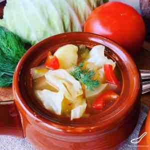 Russian Vegetarian Cabbage Soup - Delicious, incredibly healthy and vegan! Enjoyed in Russia for over 1000 years. Vegan Shchi Soup (Щи постные)