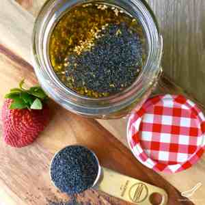 This vinaigrette is easy to make, in less than 5 minutes. Perfect with Spinach Strawberry Salad - Poppyseed Dressing with Sesame Seeds