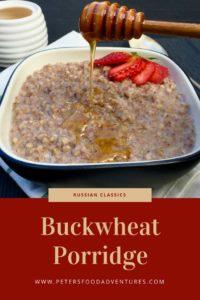 Buckwheat Porridge is a Russian and Eastern European Breakfast Kasha. Incredibly Healthy, Low GI, and Gluten Free Superfood! Grechka Buckwheat Porridge with Milk (Гречневая каша)
