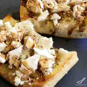 Toasted Turkish Bread with Feta & Fig Balsamic
