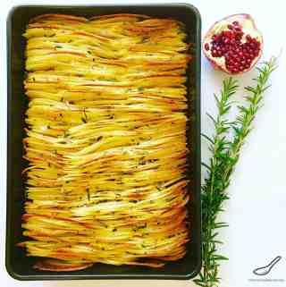 Crispy Leaf Potatoes Roasted in Duck Fat