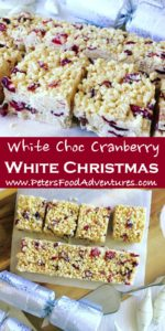 An Australian Christmas favourite, easy to make, loved by kids and grown ups. Perfect for the holidays! Made with Crisco/Copha or virgin coconut oil, dried cranberries, Rice Krispies and white chocolate - White Christmas Recipe