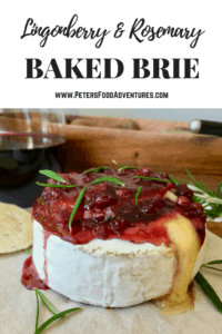 I love this classic holiday appetizer for Thanksgiving and Christmas. Quick and easy to make, sweet and savory combined with melted gooey cheese (tastes better than Cranberry Baked Brie!) - Easy Baked Brie Recipe with Lingonberry (брусника)