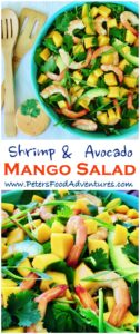This Shrimp Mango Salad recipe with avocados is delicious, fresh and healthy, can be thrown together very quickly, is fresh, delicious sure to be a summer favorite. Made with an easy creamy Thai Sweet Chili and Lime Dressing - Prawn Mango Salad