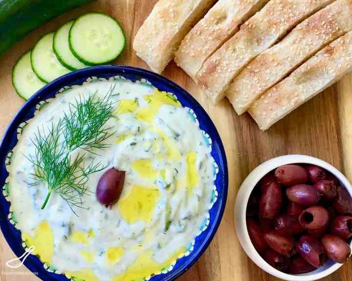 Tzatziki Sauce served as an appetizer