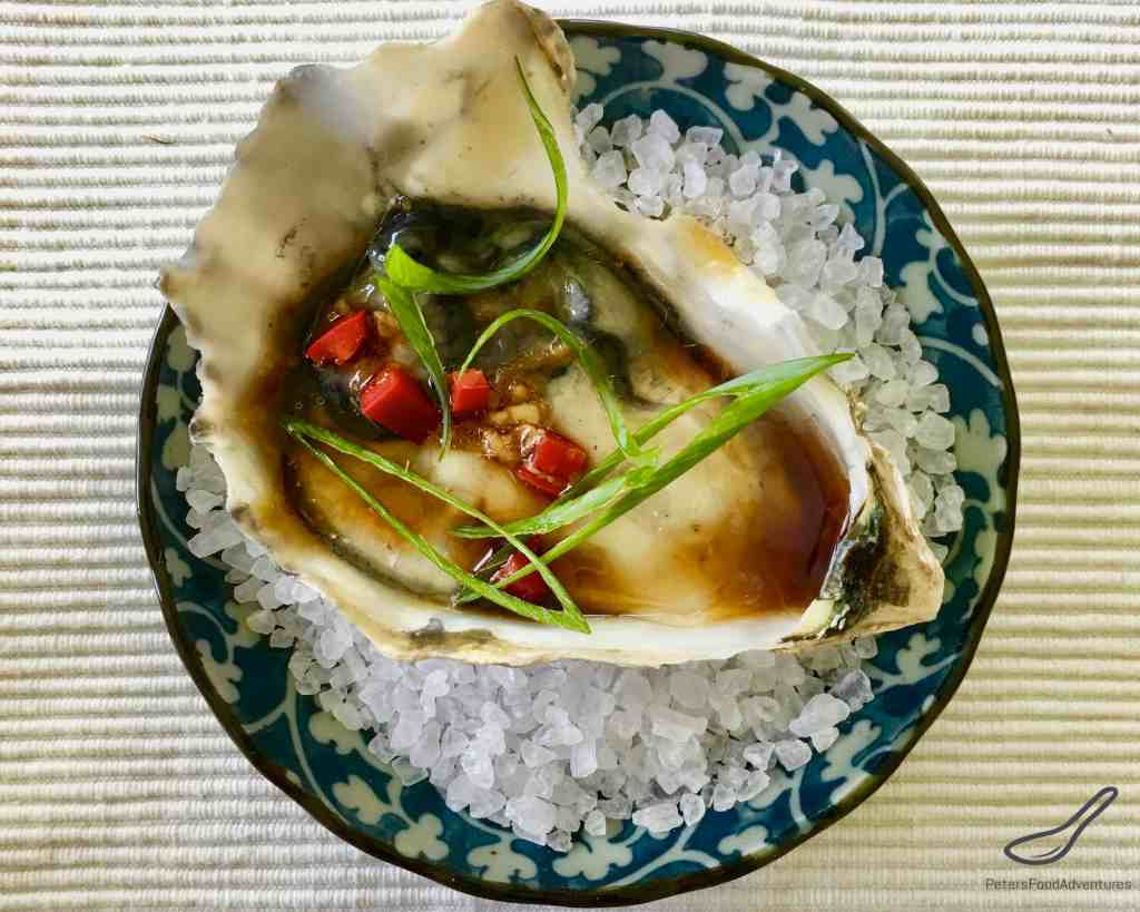 Asian Dressed Oysters