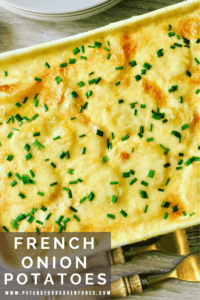 A creamy, cheese scalloped potato casserole that only uses 4 ingredients. So easy to make, yet packed full of flavor - French Onion Scalloped Potatoes