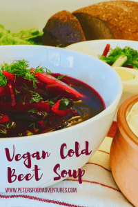 Vegan Cold Beet Soup