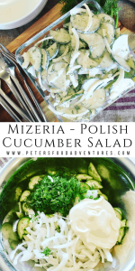 Mizeria Polish Cucumber Salad