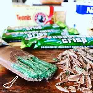 Peppermint Crisp Chocolate Bar - broken peppermint toffee shards