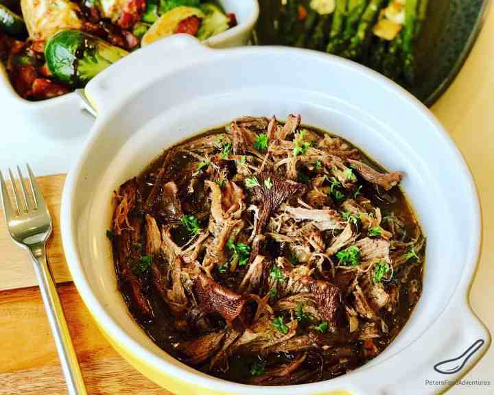 Slow Cooker Beef Brisket with Wild Mushrooms (Chanterelles) is an easy recipe that saves you time. Set and forget, rich in flavor cooked in au jus, melts in your mouth.