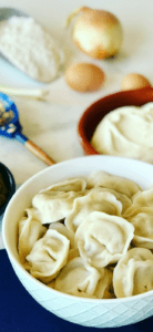 Pelmeni are Russian dumplings with a juicy meat filling, traditional Russian comfort food. It's found in every Russian's freezer, and around the former Soviet States. Similar to Vareniki, Pierogies, Uszka, and Manti. From Russia with love. Pelmeni Recipe