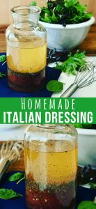 A jar of Homemade Italian Salad Dressing