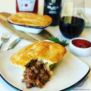 There are so many Meat Pie Recipes around the world, and the Aussie Steak Pie is one of my favorites! A beef meat pie with chunks of steak braised in a red wine gravy with fresh rosemary. So simple to make!