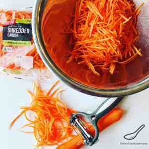 Julienned Carrots in a bowl