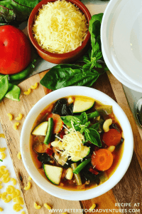 Vegetable Minestrone Summer Soup