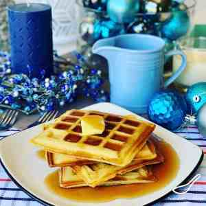 Eggnog Waffles for Christmas