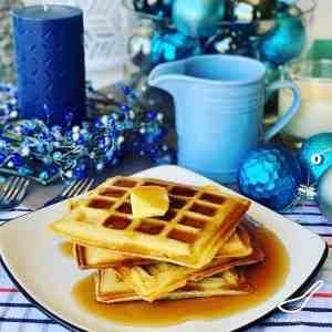 Eggnog Waffles for Christmas