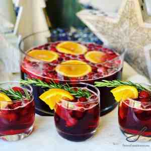 Christmas Punch with Cranberries