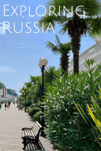 Exploring Russia Sochi and the City  Beach on the Black Sea
