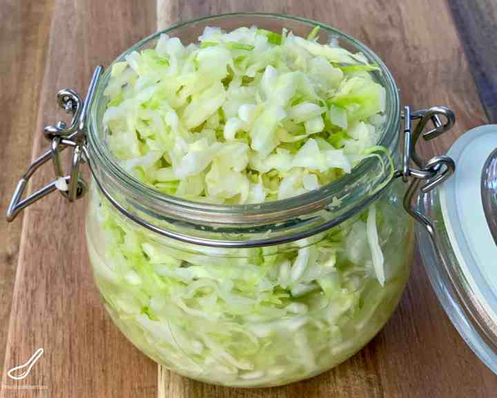 Quick Pickled Cabbage in a Jar