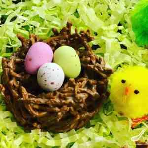 Easy to make, Chocolate Chow Mein Birds Nest Cookies are the perfect Easter and springtime treat. Fun to make and a big hit with your kids!