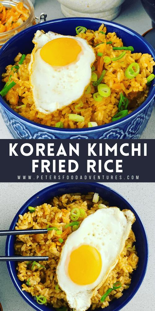 Korean kimchi fried rice pinterest pin