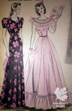 Pramo 40er, Vintage Kleid Schnitt