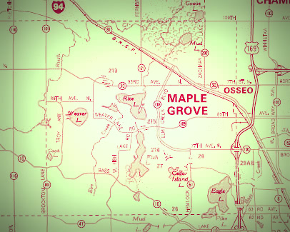 Special Salt Delivery Prices for Maple Grove Residents   Peterson Salt maple grove map