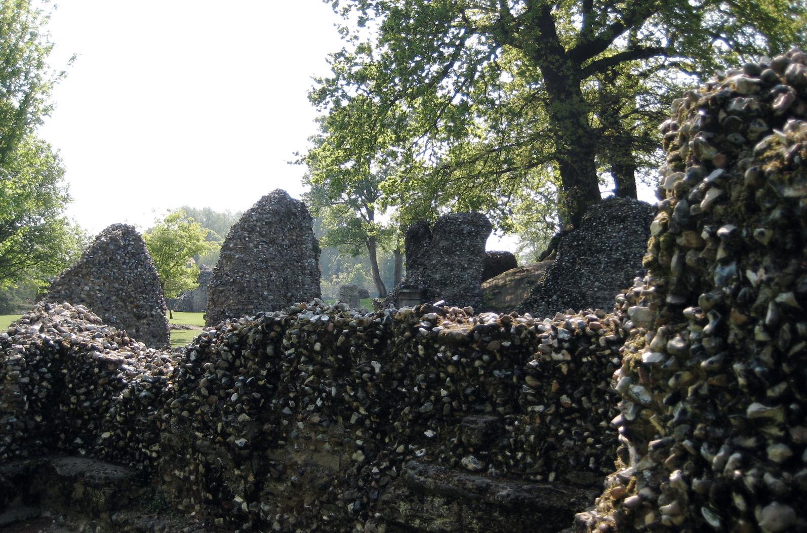Abbey ruins at Bury St. Edmunds