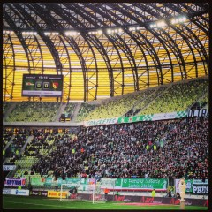 Lechia playing in the PGE Arene Gdansk