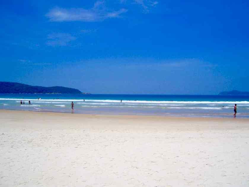 Ilha Grande Brasilien, Strand Mendes Lopez mit wenig Besuchern