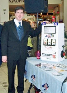 Peter in tux for a wedding expo remote at Sangertown Square in New Hartford