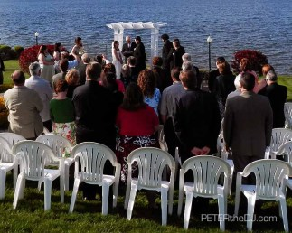 Outdoor ceremony at Borio's Lakeside in Cicero, 5/5/12