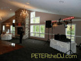 DJ setup before the guests arrive