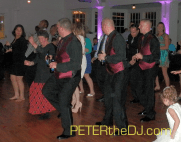 Dancing the night away at Leanna and Peter's wedding reception at Emerson Park in Auburn, NY.