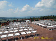 The outdoor deck, ready for the ceremony.