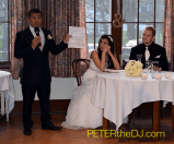 The Father of the Groom provided a bilingual toast