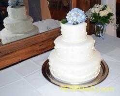 Jacky and Stephen's wedding cake.