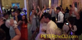 Open dance floor at Aubrey and Bill's reception