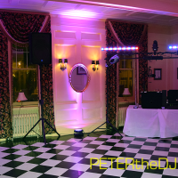 During dinner, some shots of the uplighting around the dance floor...