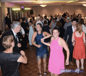 Dancing the night away: Stephanie & Larry's wedding reception at Hart's Hill Inn, Whitesboro, NY - August 2017
