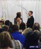 Andrea and Larry's wedding ceremony at Turning Stone Casino Resort in Verona, NY, April 2018.