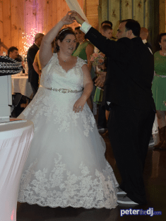 First dance at Kimberly and Giovanni's wedding at Wolf Oak Acres in Oneida, NY, June 2018