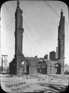 The remains of the Maryland Institute, 1904.