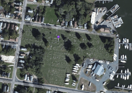 Location of James Wallace's gravesite.