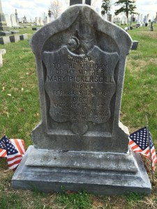 Close-up of Mary Pickersgill's Headstone.