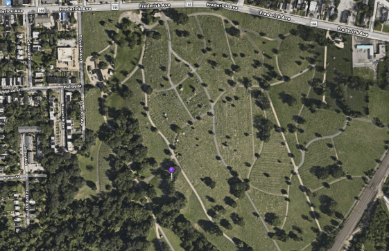 Location of William H. Murray's gravesite.