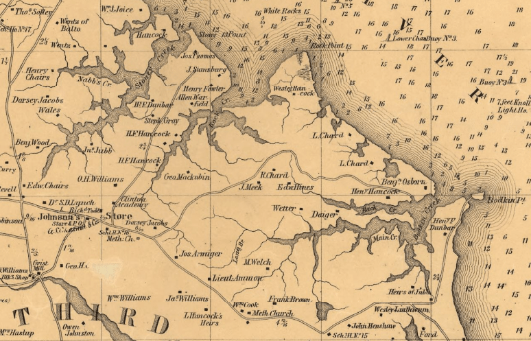 Martenet's 1860 Map of Jacobsville and Hog Neck - <i>Library of Congress</i>
